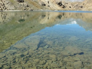 Still and Clear Waters of High Altitude Mountain Lake