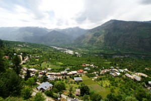 Naggar Village in Kullu Valley, Himachal Pradesh