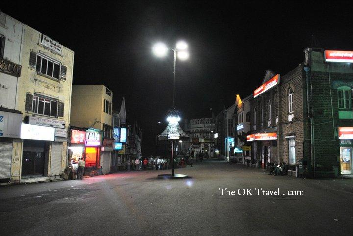 Mall Road in Shimla at Night
