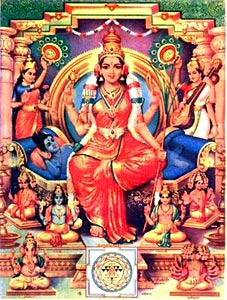 Tripura-Sundari (Artistic Depiction of the Supreme Hindu Goddess)